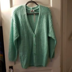 Asos Mint green oversized cardigan sz 4 new